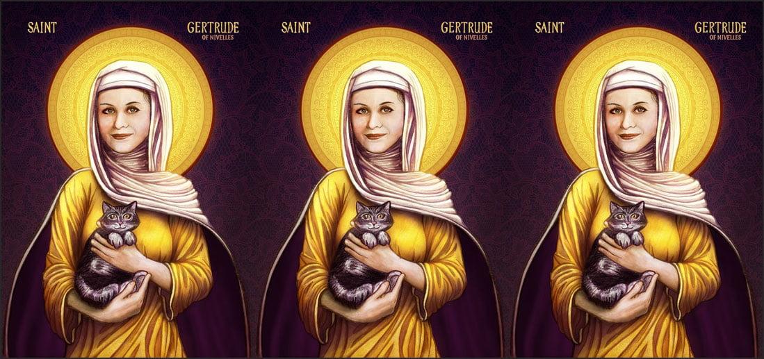 St Gertrude of Nivelles