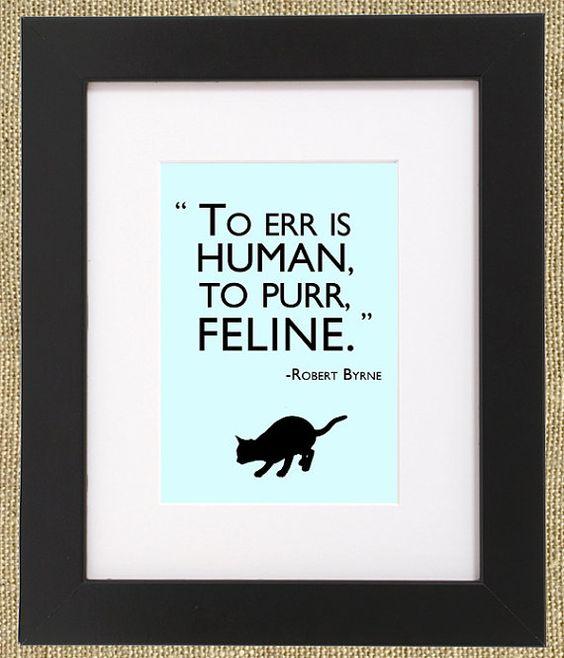 To purr is feline