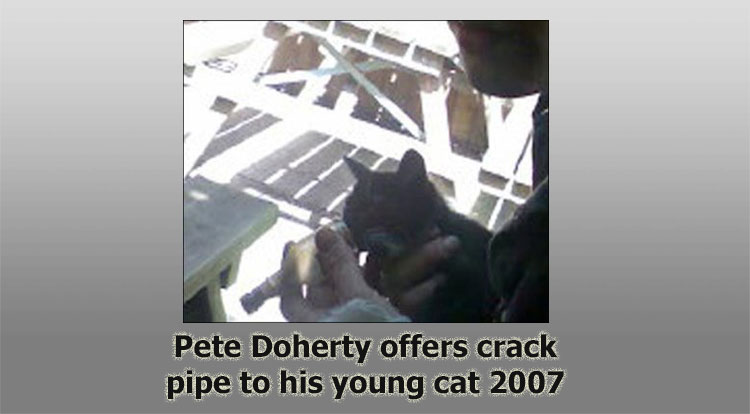 Pete Doherty offers crack cocaine to his cat 2007