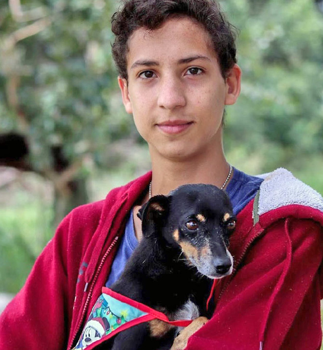 Eduardo and rescue dog