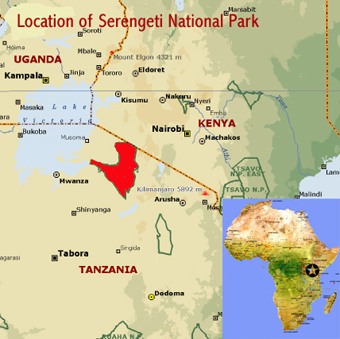 Serengeti NP location