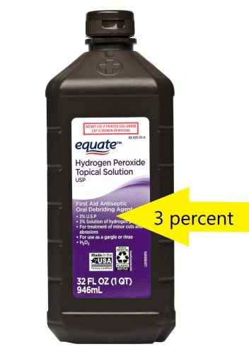 3 percent hydrogen peroxide in the USA