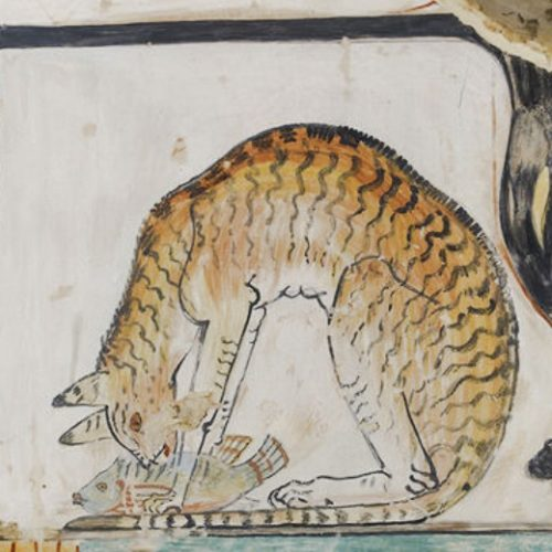 Ancient tabby cat