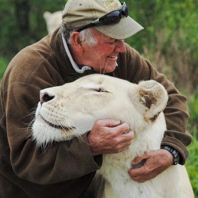 Mathewson and white lioness