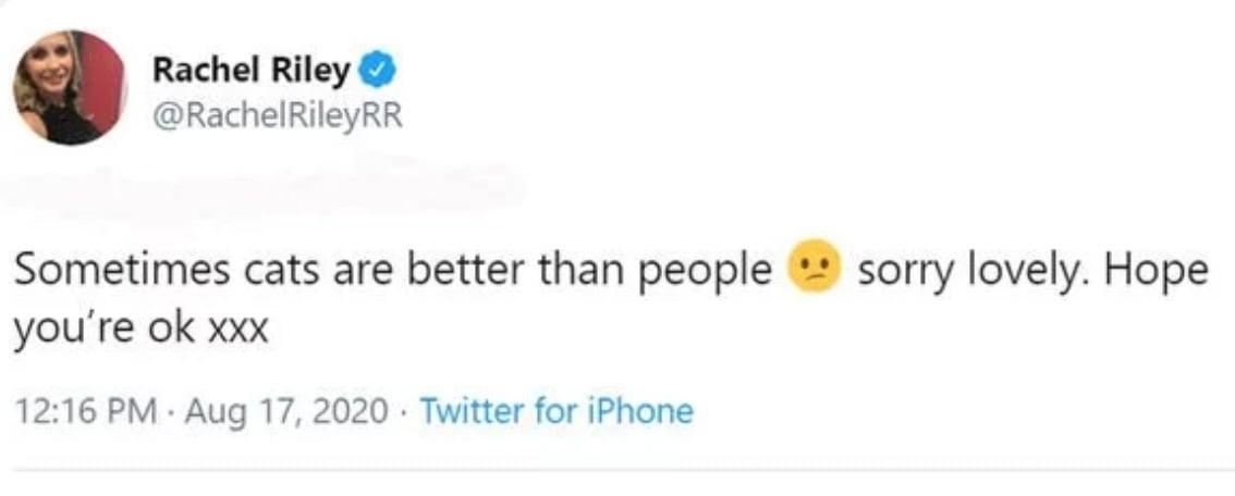 Riley's Tweet