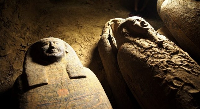 2,500 year old coffins exhumed in Egypt recently