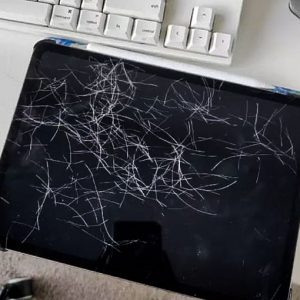 IPad with fur or scratched?