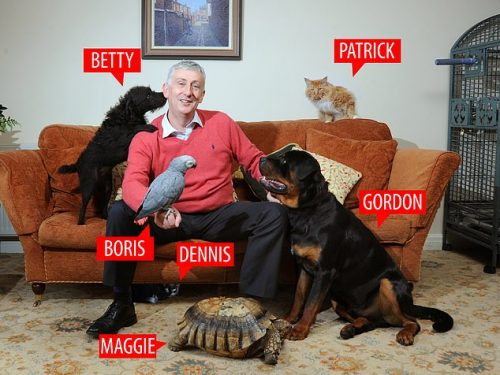 Lindsay Hoyle and his menagerie