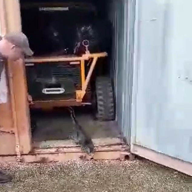 Monty exits container