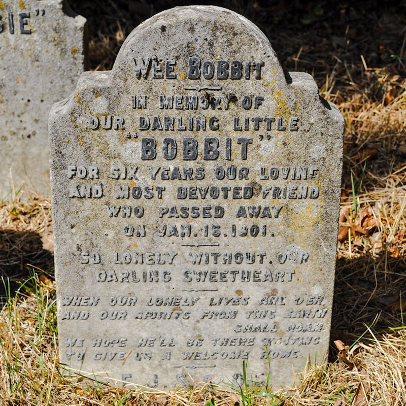 Bobbit headstone