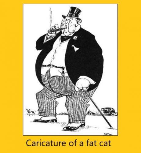 Caricature of a fat cat