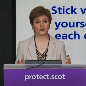 The virus is no one's fault said Nicola Sturgeon