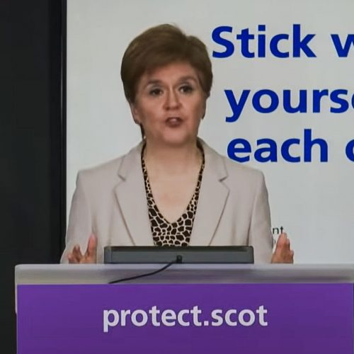 The virus is no one's fault said Nicola Sturgeon