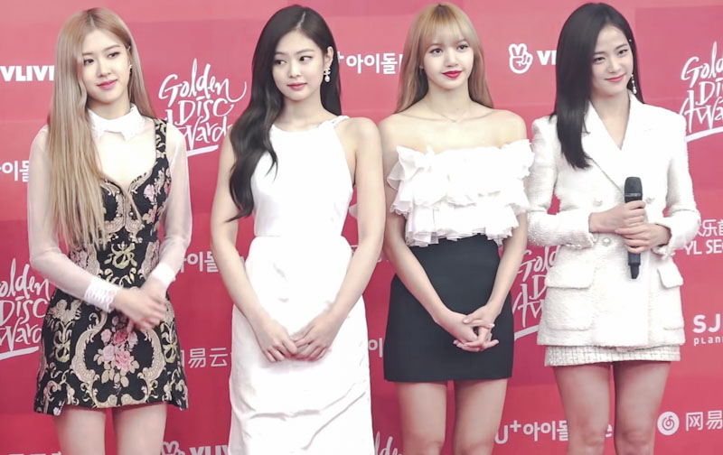 Blackpink: Rosé, Jennie, Lisa, and Jisoo.