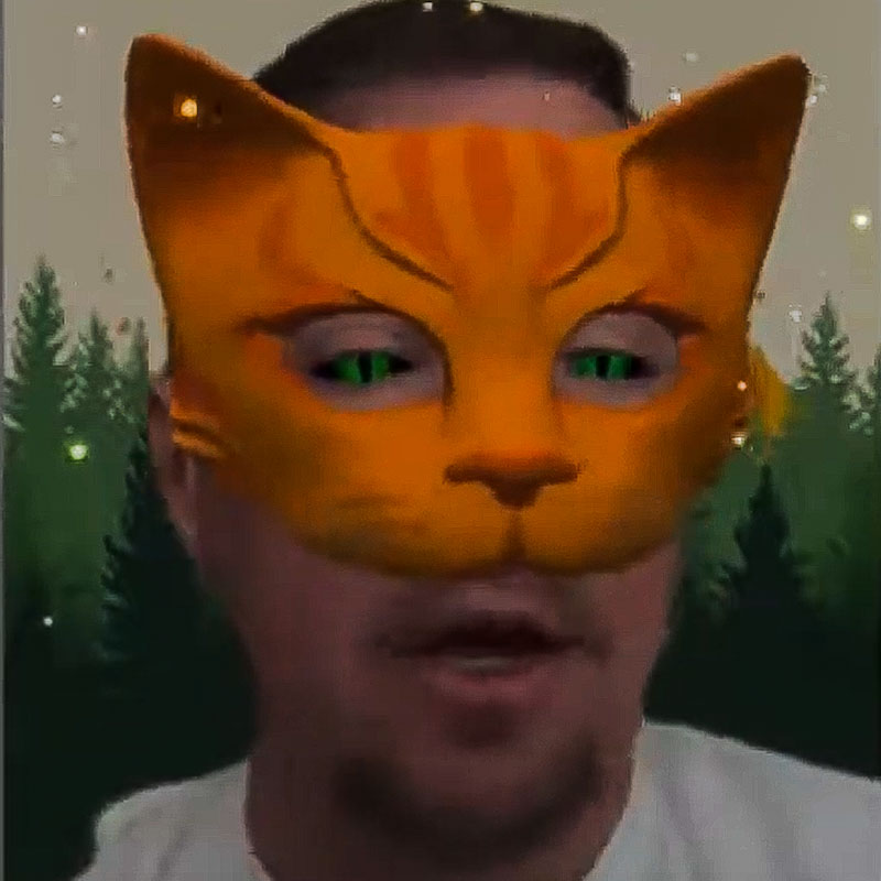 Augmented reality Warrior Cats 3D face mask filter for Warrior Cats role-play on Instagram
