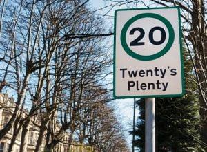 20 mph speed limit in London
