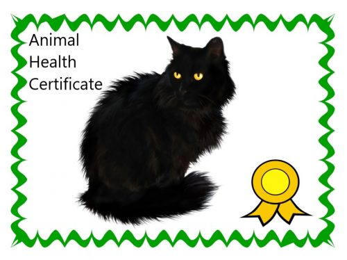 AHC - Animal health certificate
