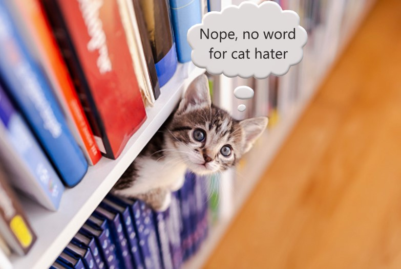 No English language word for cat hater