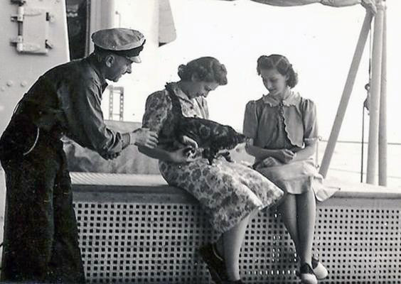 Princess Elizabeth with a cat