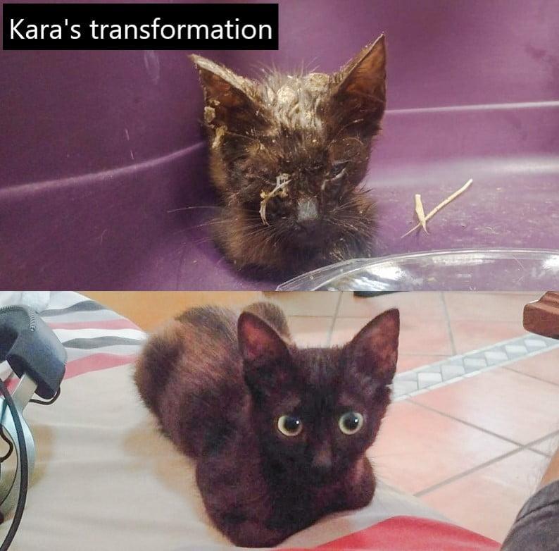 Kara's transformation