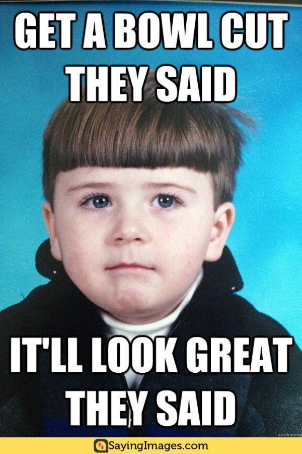 Boy with bowl haircut
