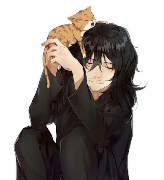 Shota Aizawa and kitten