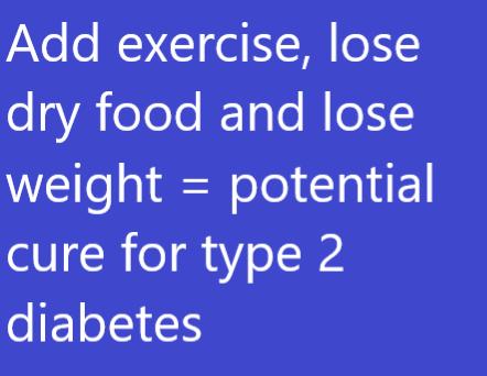 Cure for type 2 feline diabetes