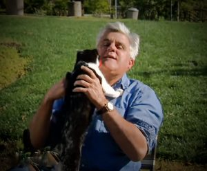 Jay Leno and his cat