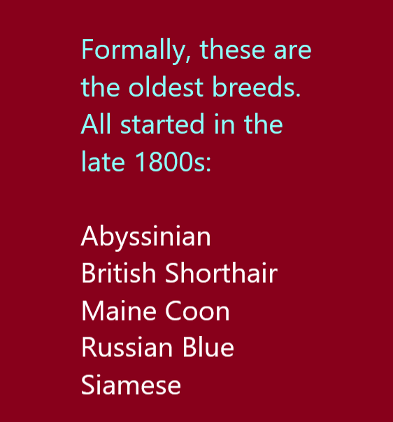 """World's oldest cat breed"" is a tricky topic"