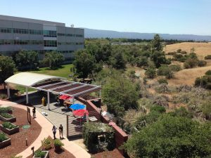 Googleplex headquarters in Mountain View, California looking like a holiday camp!