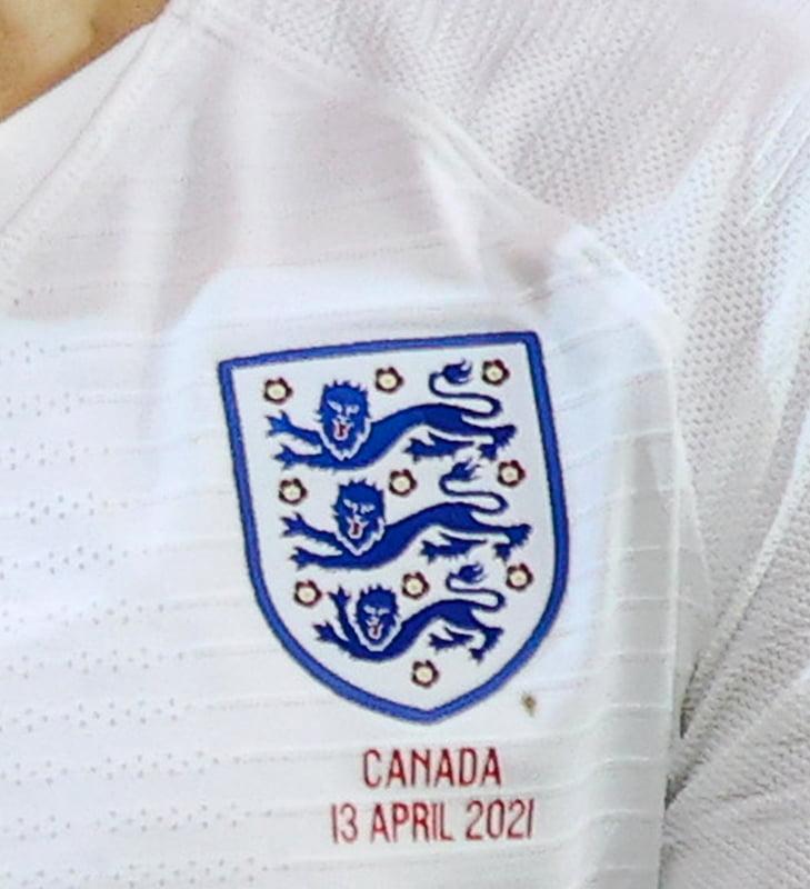 Original Three Lions badge for England footballers
