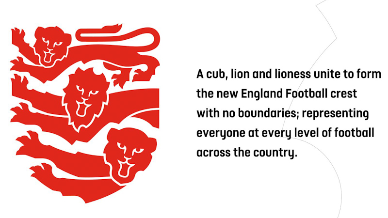 The Lions showing cub, female and male a woke version of the Three Lions introduced by the Football Association