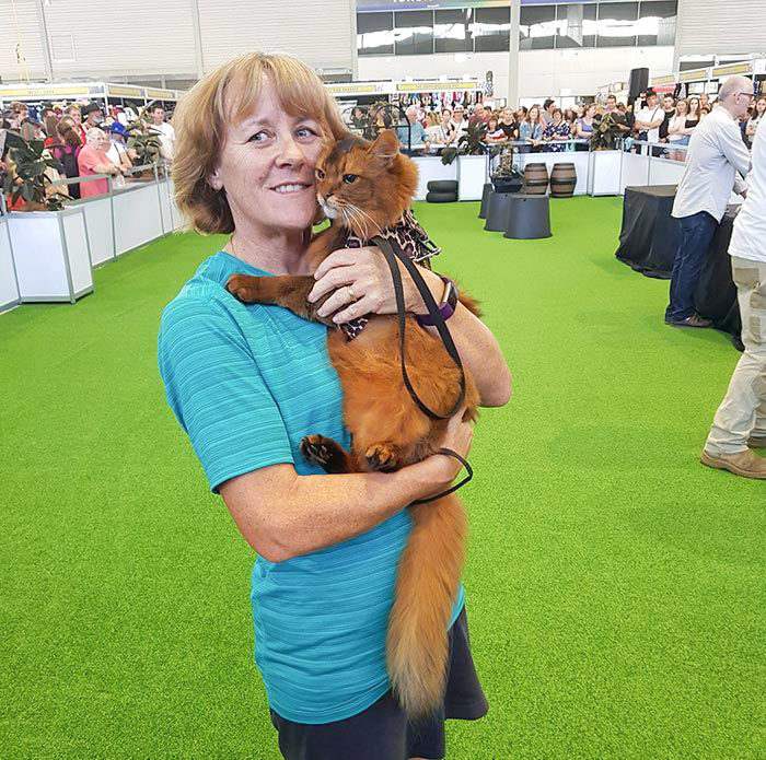 Lynne Moorman and Tarek at the Sydney Royal show in 2019
