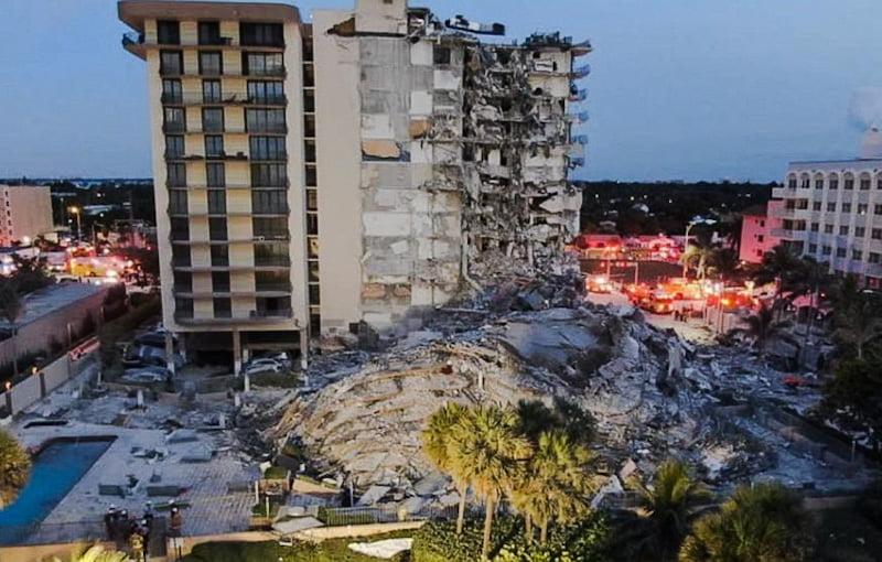 Condo collapse South Beach Miami