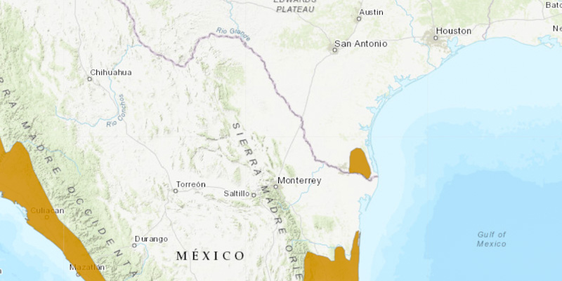 Ocelots in south-east corner of Texas on the Mexico border
