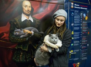 British Shorthair cat becomes first passenger of Moscow Metro's Shakespeare train