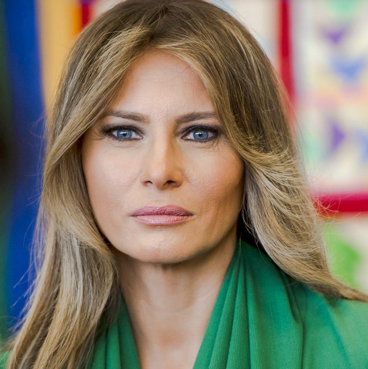 Melania Trump's cat-like eyes