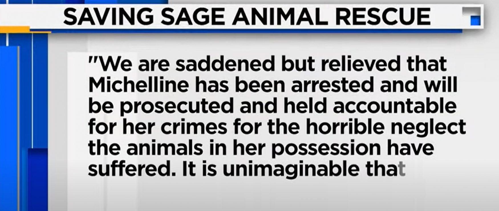 Statement of Sage rescue