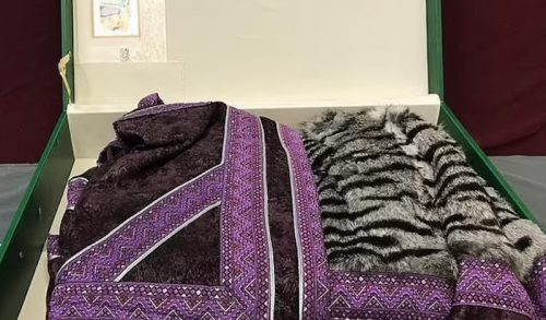 What were presented to Donald Trump as genuine cheetah and tiger fur robes turned out to be fake following an inspection by the US Fish and Wildlife service