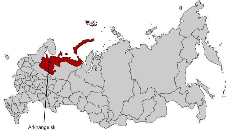 map of northern russia