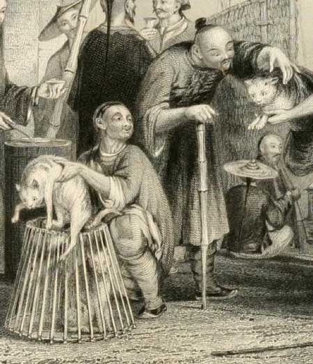 cat dealers in China in the 1800s