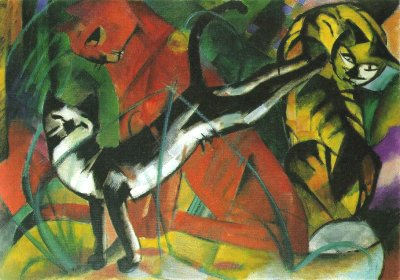 Franz Marc --Three Cats