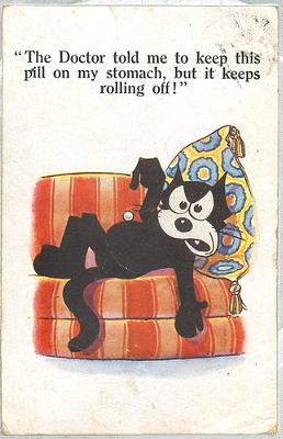 Felix Pill Postcard 1920 - photographed and uploaded by Sheffield Tiger (Flickr)