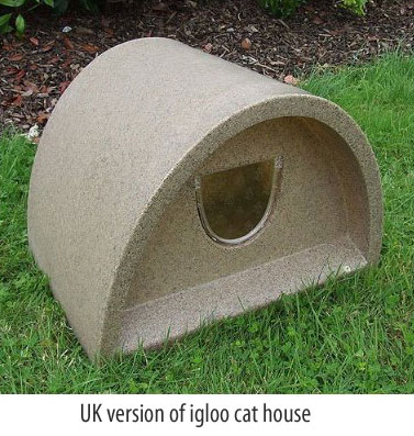 igloo cat house uk model