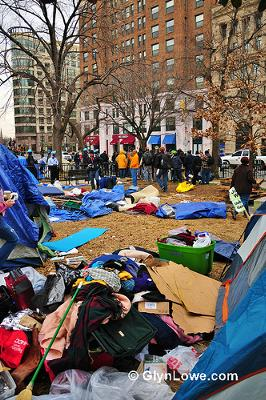 Occupy DC camp - rat paradise - photo by Glyn Lowe Photos. Note: I support the Occupy protestors.