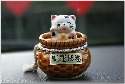 Maneki Neko cat - photo Cathy (Flickr)