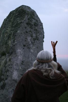 Druid at stonehenge - Stonehenge, England, has special significance to Druids - photo by Christopher_Hawkins