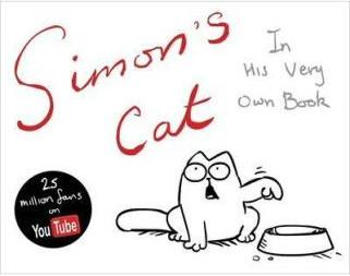 Simon's Cat book cover. Reproduced under fair use adopting the arguments presented by Wikipedia authors.