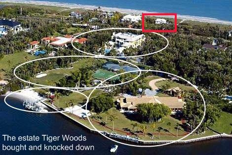 Tiger Woods House the entire plot of land including a piece over the road